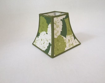 Handmade Paper Lamp Shade - Green Lamp Shades - Floral Lamp Shades - Designer Lamp Shades - Paper Lamp Shades