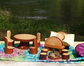 Primitive Doll Furniture Set, Fairy Furniture, Waldorf Inspired Play