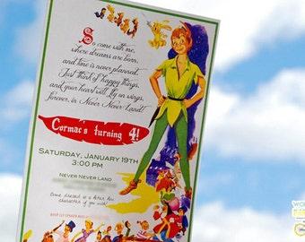 Peter Pan Vintage Invitation - Vintage Peter Pan -  Printable File - PDF