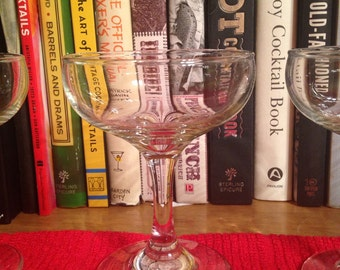 Vintage Coupe : Set of 12 matching cocktail glasses or champagne glasses (4.25 ounce coupes)