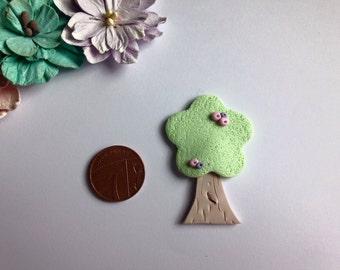 Clay Flat back cute shabby tree embellishments deco