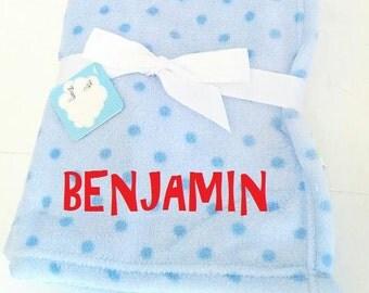 Personalized Boys Baby Blankets Microfiber Fleece