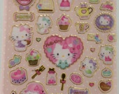 Sanrio Original Hello Kitty Glittered Stickers Gold Frame  (320633)