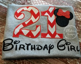 Disney-Inspired Birthday Shirt - 16th - 21st - 40th - 50th - 60th - Custom Birthday Tee 885