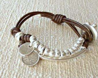 Wrap bracelet, beaded bracelet, uno de 50 style, gift for her, bracelet, bead bracelet, friendship bracelet, boho bracelet, K1830