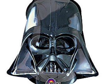 "14"" Darth Vader Head Foil Balloon, DIY supply, birthday, kids party, favors"