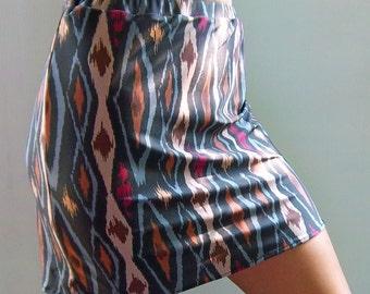 Tribal Printed Pencil Skirt - Tribal Print - Pencil Skirt - Bodycon