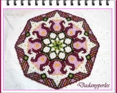 tutorial learn danish weaving doily  beginning  step by step POLOGNA
