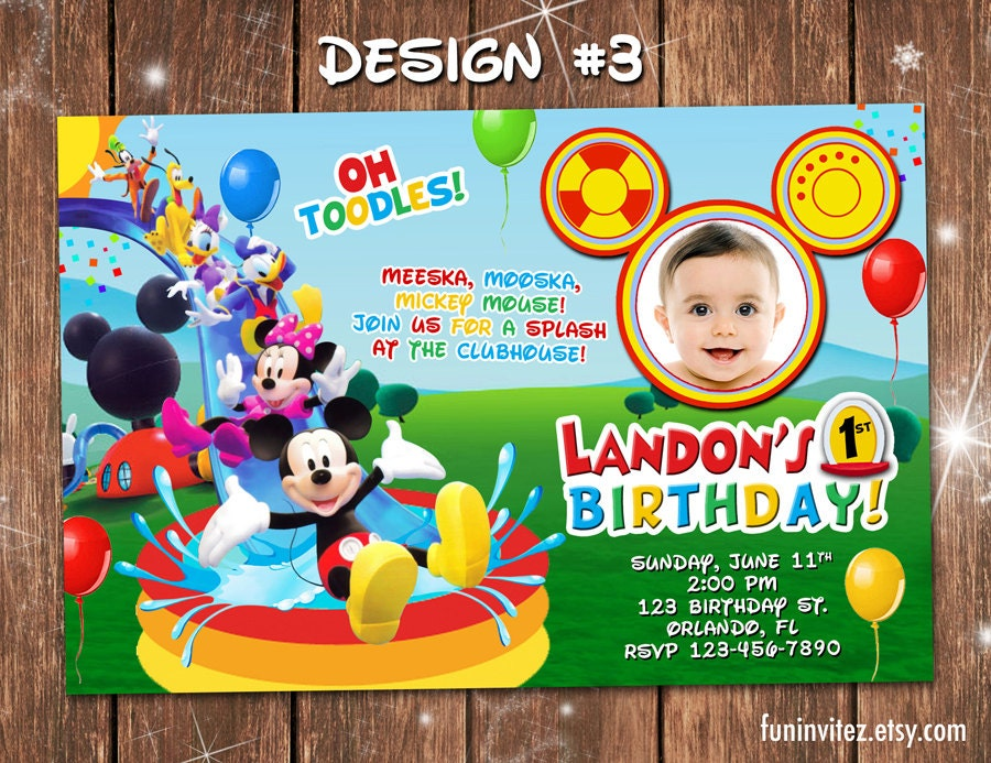 Mickey Mouse Clubhouse Custom Invitations is luxury invitation ideas