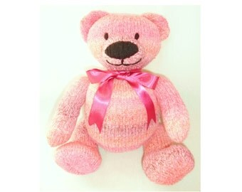 Berry Bear knitting pattern DOWNLOAD Double knitting / light worsted