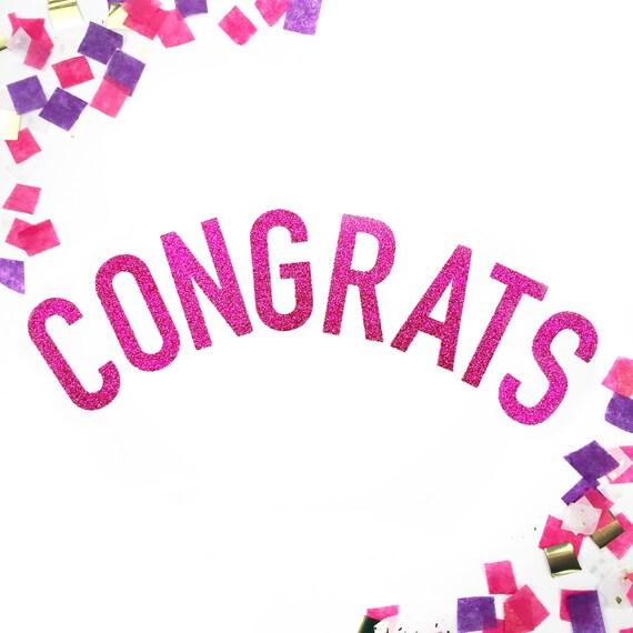 congratulations glitter banner