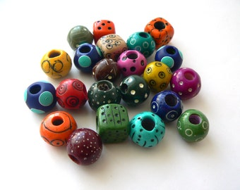 Colorful dreadlock beads and beads