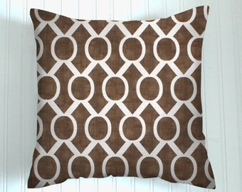 Pillows  Brown. One  Pillow Cover . Italian Brown 20 X 20  Accent Pillows  Throw Pillows  Decorative Throw Pillows Geometric