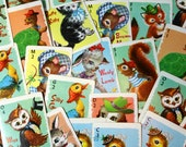Fun, Vintage Animal Rummy playing trading cards