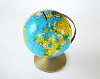 Vintage Replogle Revere Earth Globe Bank | World Bank | Rare Large Globe Bank | Made in U.S.A.