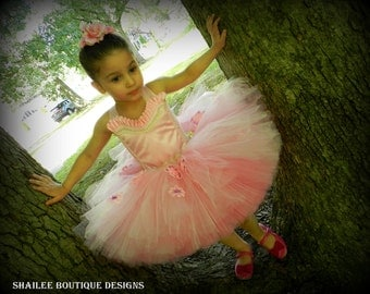 Little ballerina birthday outfit Girl's tutu dress 2pc,pink tutu dress,ballet tutu dress,ballet ballerina bithday avalible in pink& lilac
