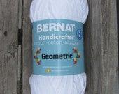 Bernat Handicrafter Yarn in crisp white knitting crocheting cotton