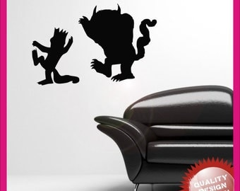 Where the wild things are vinyl wall decal