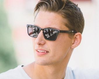 Husband Gift Sunglasses, Black Frame Sunglasses, Boyfriend Gift - MDW-MIX