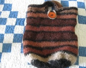 Navajo Churro wool felted bag