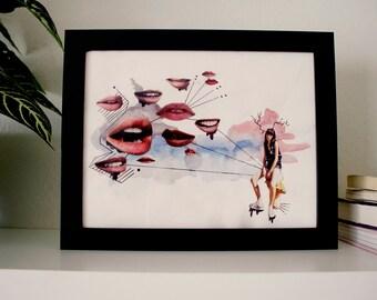 "Girl Time No. 1 - 8.5"" x 11"" Original Art Print"