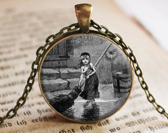 Les Miserables Cosette Pendant/Necklace Jewelry, Les Mis Necklace Jewelry, Les Miserables Jewelry Pendant, Movie Jewelry