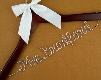 Personalized Wedding Dress Hanger, Custom Bridal Hanger, Bride Hanger, Bridal Shower Gift