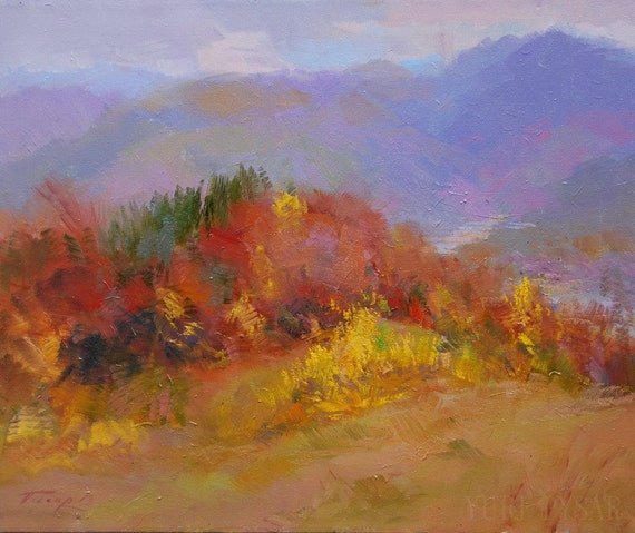 Modern Landscape Painting Autumn Painting Trees By Fall