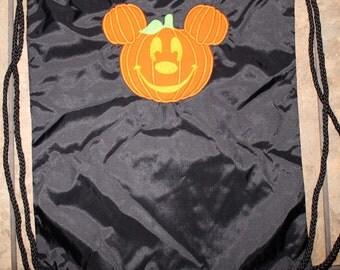 Pumpkin Mickey Draw String bag