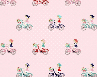 Vintage Bike Ride Pink - Vintage Market - Riley Blake Designs - 1/2 Yard
