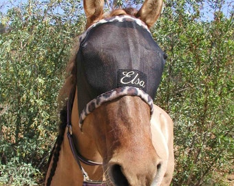 Custom Made Embroidered HORSE FLY MASK by BobbiGee's
