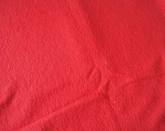 "Bright red fleece fabric, 50"" wide, 1 3/8 yards"