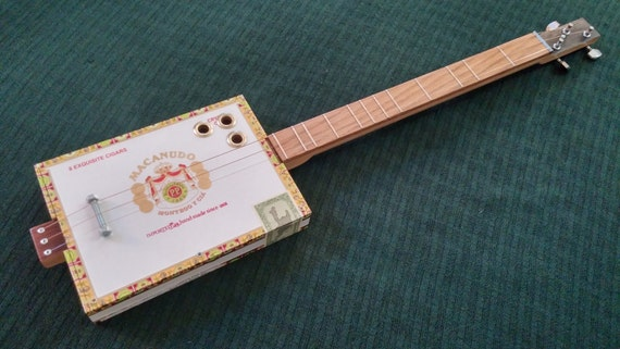 acoustic cigar box guitar by grittyfishguitars on etsy. Black Bedroom Furniture Sets. Home Design Ideas