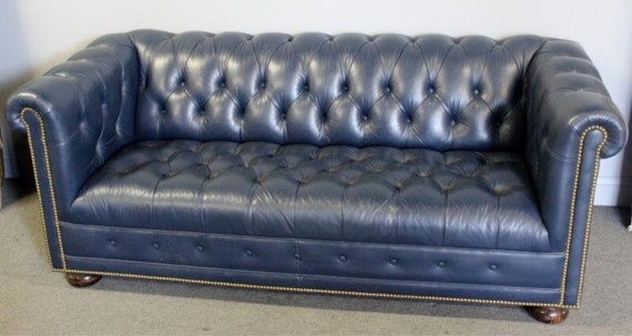 Items similar to SOLD OUT Vintage Chesterfield Leather Tufted Sofa on Etsy