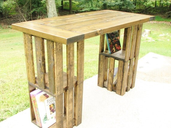 Computer Desk, FREE SHIPPING, Rustic, Crate, Country, Modern