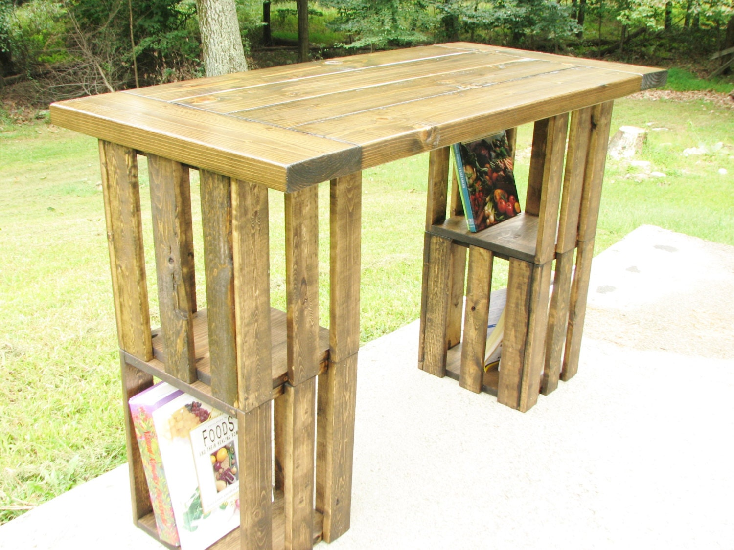 Computer Desk Farmhouse Rustic Crate Country Modern