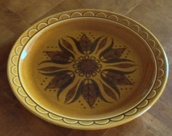 "Homer Laughlin ""Golden Harvest""  - Round Serving Platter Chop Plate"