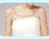 60% OFF - High quality Bridal Shoulder Necklace, Body Necklace. Wedding Necklace.