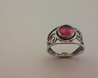 dragon breath opal wire ring