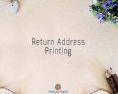 Return Address Printing | Envelope Address Printing | 0.30 dollar per envelope