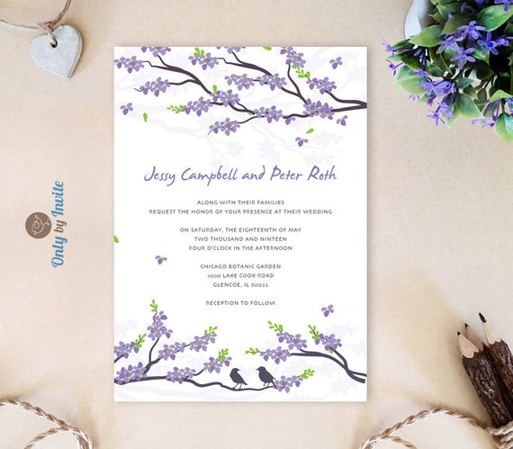 Cheap Cardstock For Wedding Invitations : ... card stock Love birds wedding invitations Spring wedding