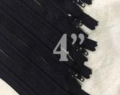 "10 black zippers bulk zippers black zippers wholesale zippers nylon zippers 4 inch zippers ykk zippers 4"" zippers 4 inch ykk zippers"