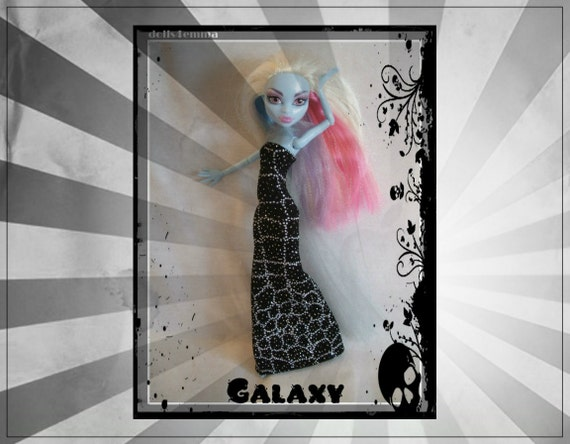 Handmade Gown & Wrap for MONSTER HIGH Doll Custom Fashion Clothes Gown