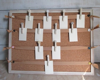 Seating Chart Corkboard Rustic Wedding Seating Photo Display Board