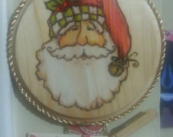Old Timey Santa Card Holder