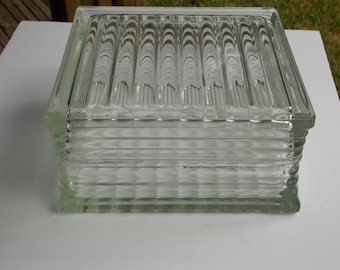 Vintage Glass Block 7 3/4 X 7 3/4