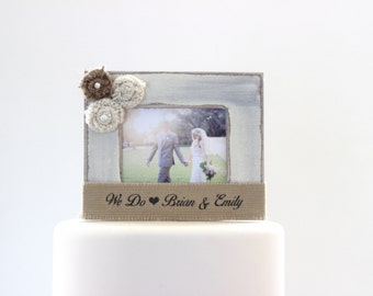 Wedding Cake Topper Rustic Country Outdoor Wedding Personalized Wedding Cake
