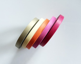 Thin Washi Tape Set of 5(5mm Wide)