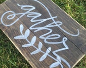 Wooden Gather Sign