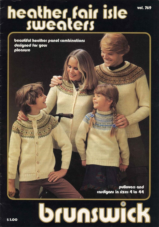 Norwegian Sweaters 1970s Retro Fair Isle Men's